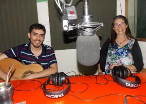 Malva Postiglione y Sebastián Nabón en El Garage de UNI Radio