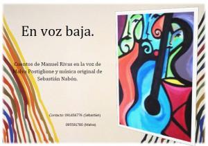 Cuentos en voz baja Malva Postiglione y Sebastián Nabón