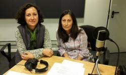 Eliana Lucián y Alejandra Galli de Biblioteca Solidaria ANEP