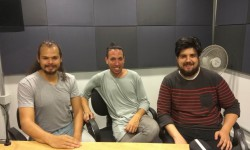 Elias Miguez y Fabricio Guaragna de Objeto Desgenerado junto a Marcelo Ayala de La Tarde