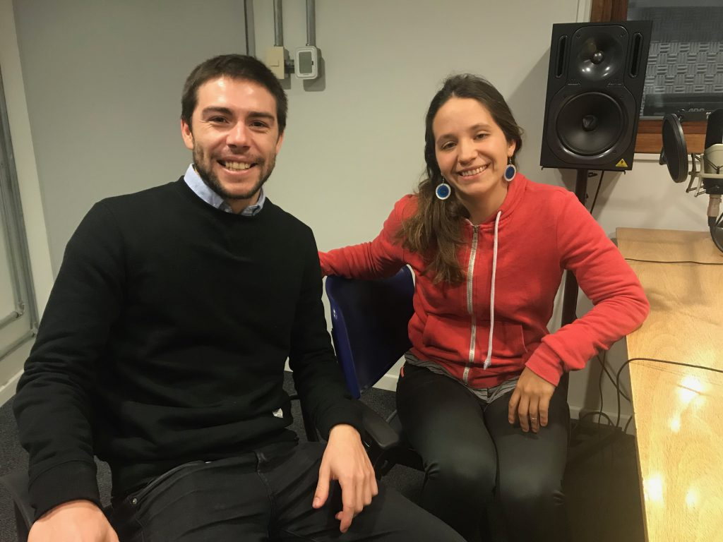 Camila Barreiro y Nicolás Capricho. Foto: UNI Radio